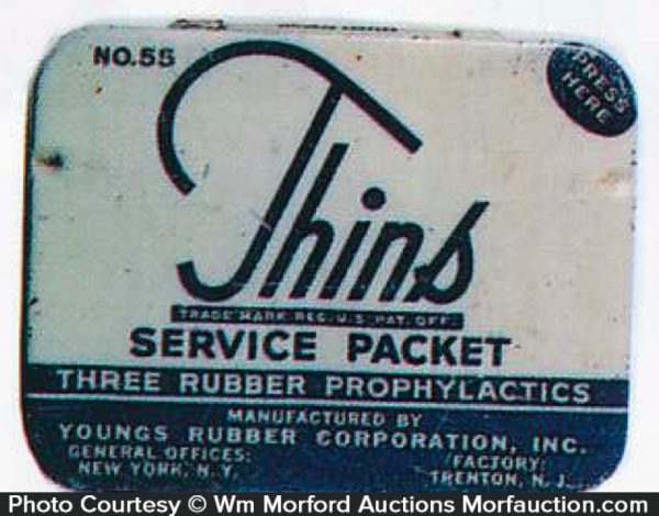 Thins Service Packet Condom Tin