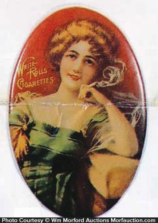 White Rolls Cigarettes Mirror