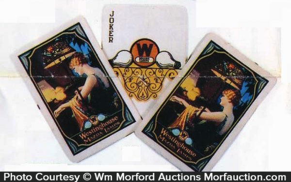 Westinghouse Mazda Lamps Playing Cards