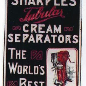 Sharples Tubular Cream Separators Sign
