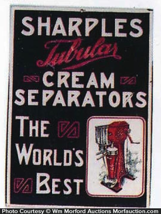 Sharples Tubular Cream Separators Sign