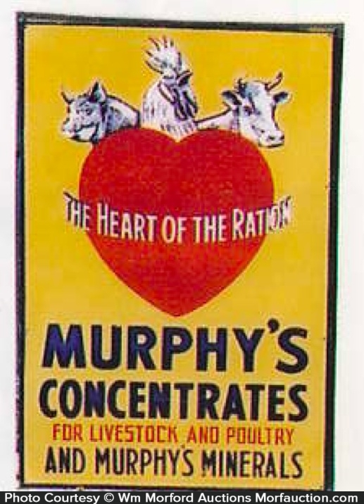 Murphy's Concentrates Feed Sign