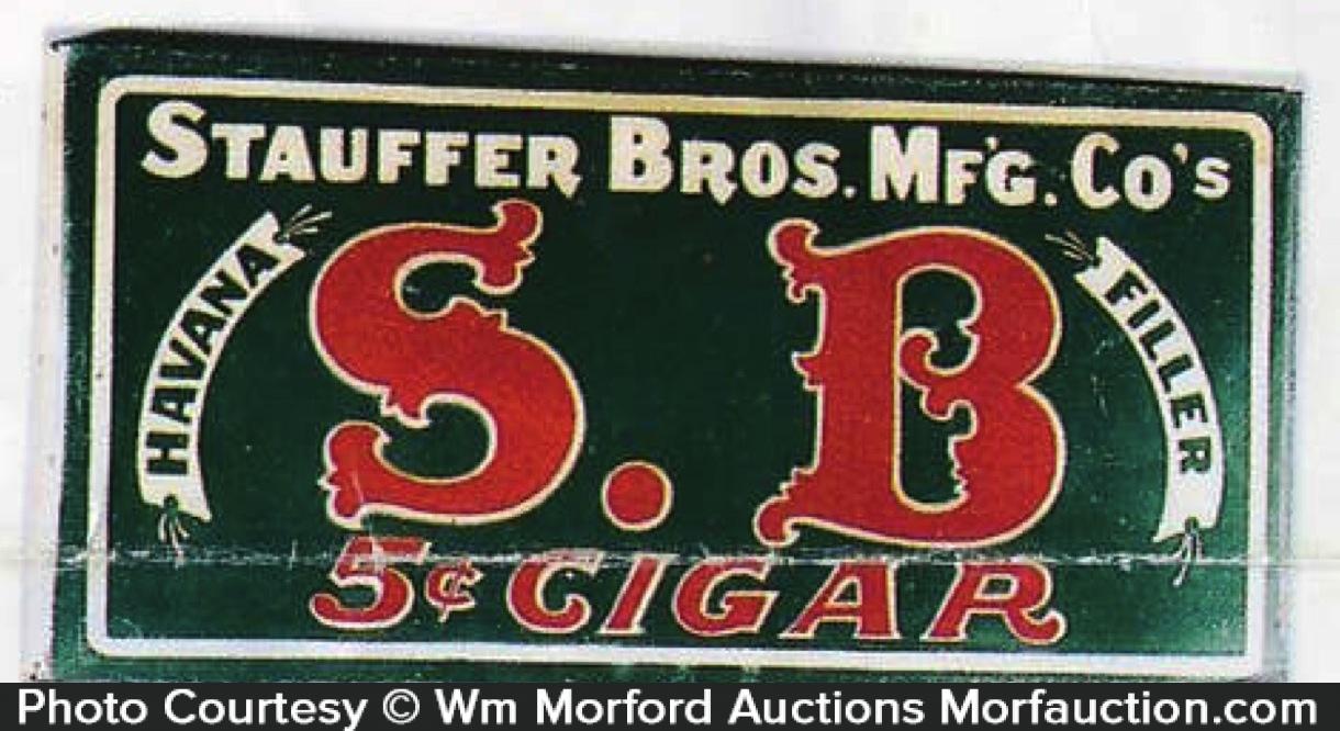 Stauffer Bros. Cigar Sign