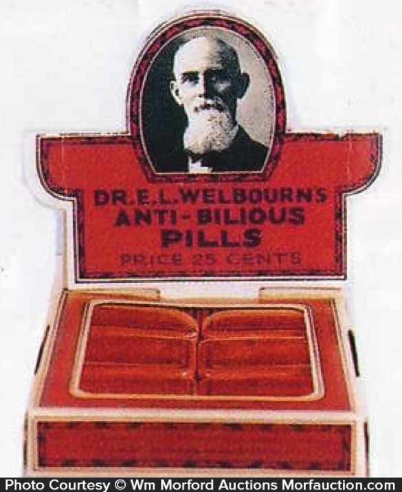 Dr. Welbourn's Anti-Billious Pills Display