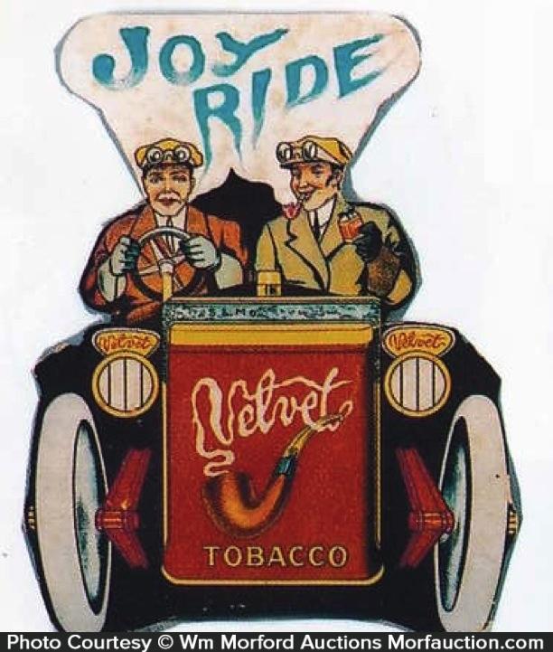 Velvet Tobacco Joy Ride Sign