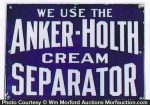 Anker-Holth Cream Separator Sign