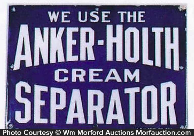 Anker-Holth Cream Separator Sign