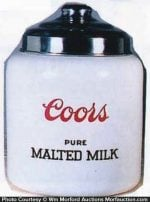Coors Malted Milk Jar