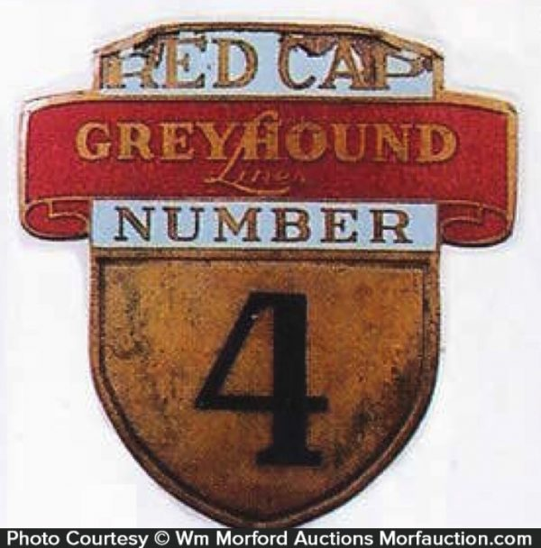 Greyhound Red Cap Badge