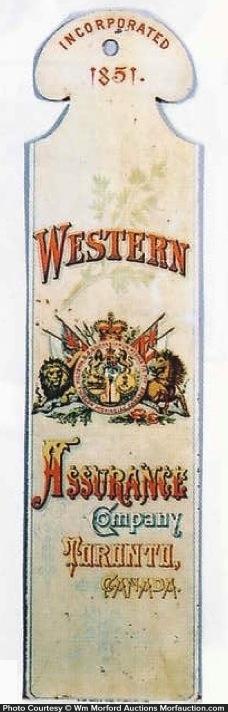 Western Assurance Ledger Marker