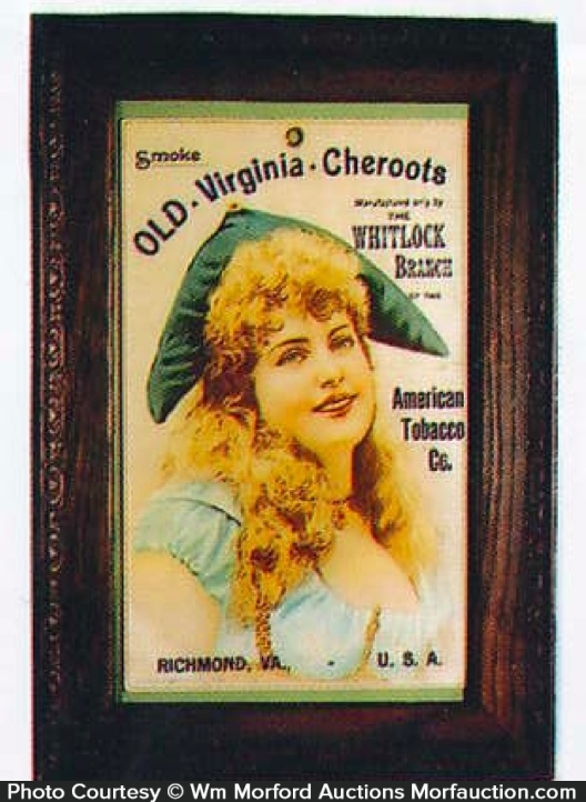 Old Virginia Cheroots Tobacco Sign