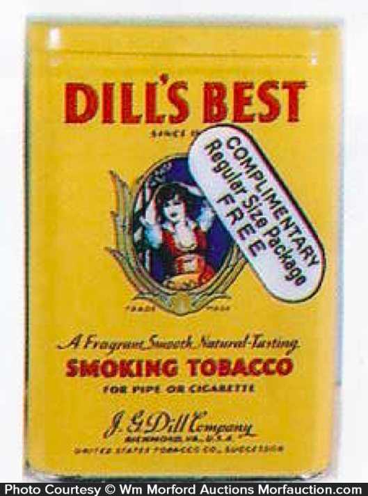 Dill's Best Tobacco Tin Sample