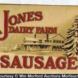 Jones Dairy Sausage Sign