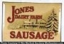 Jones Dairy Sausage Sign