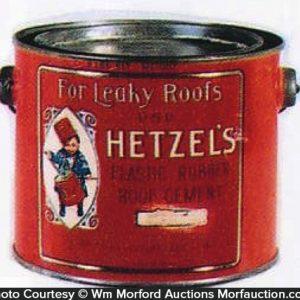 Hetzel's Roof Cement Pail