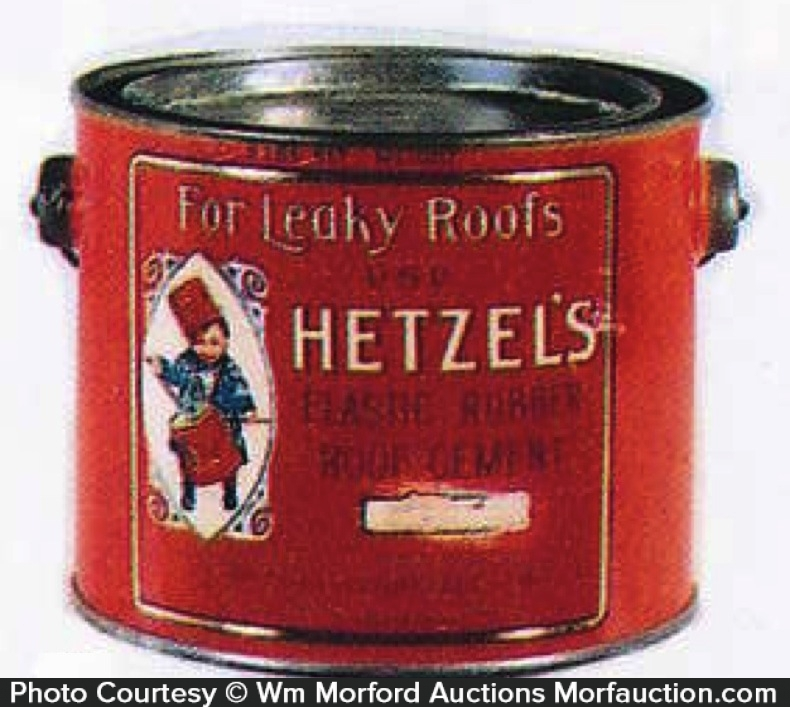 Hetzel's Roof Cement Pail