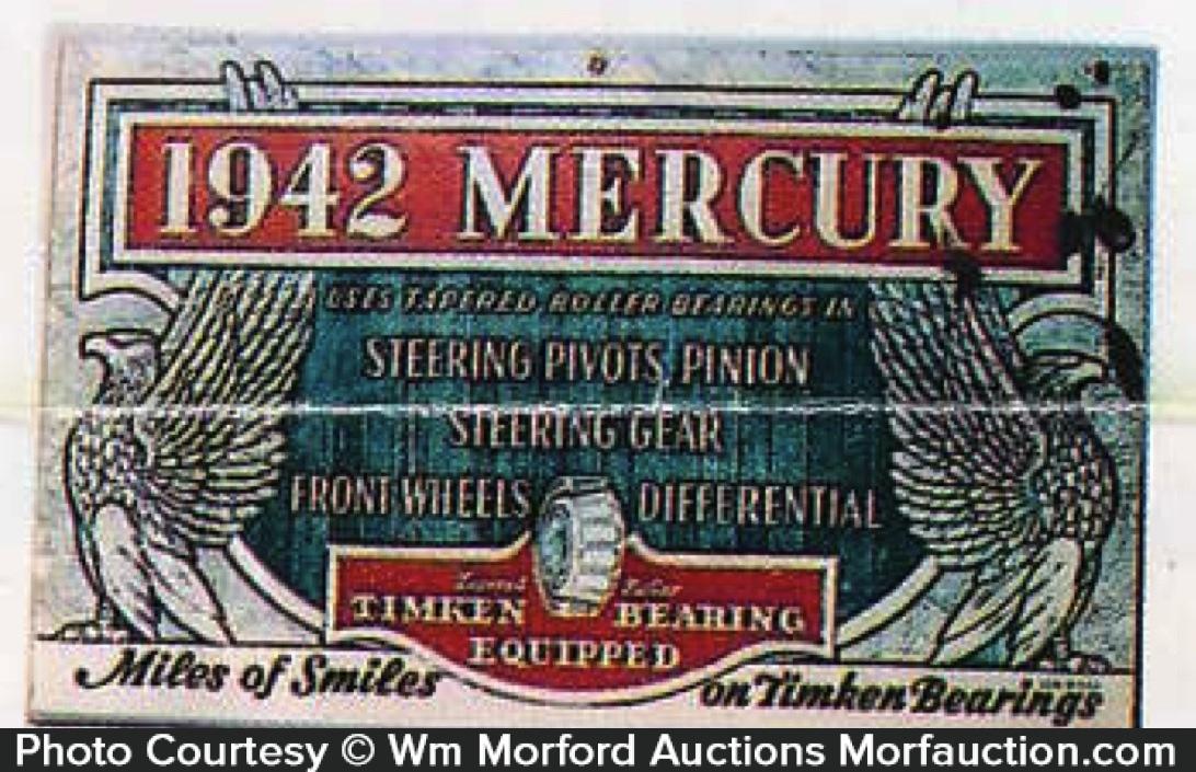 Mercury Car Sign
