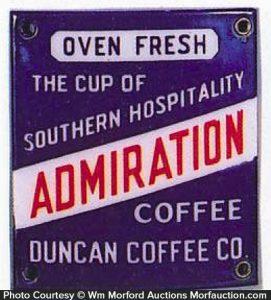 Admiration Coffee Sign