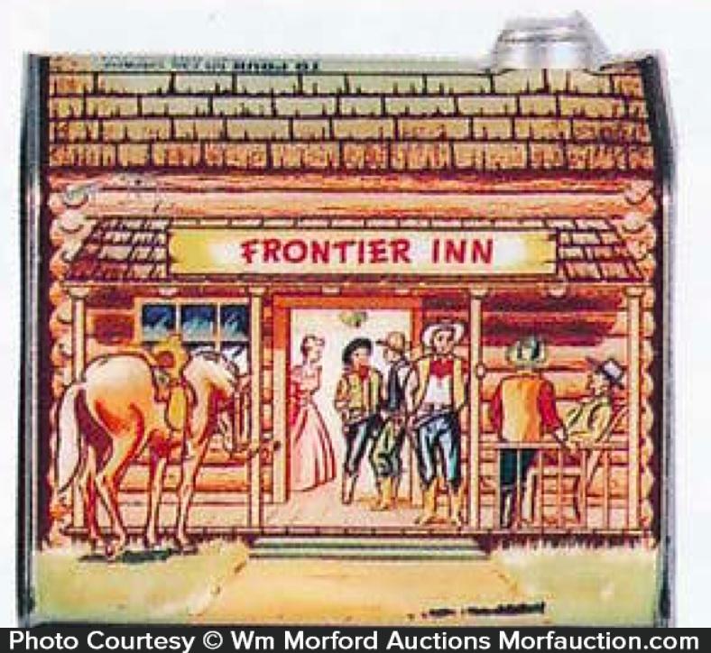 Log Cabin Syrup Frontier Inn Tin