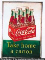 Coca-Cola Take Home A Carton Sign