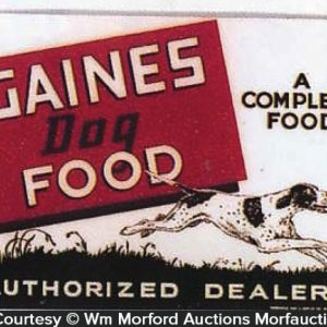 Gaines Dog Food Sign