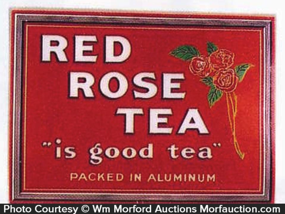 Red Rose Tea Sign