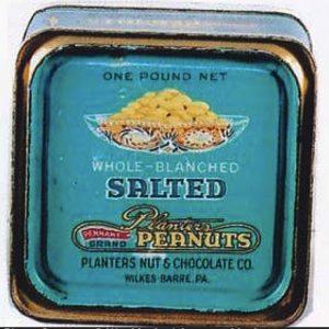 Planters Pennant Peanuts Tin