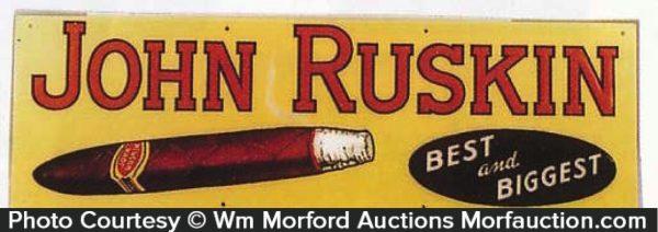 John Ruskin Cigar Sign