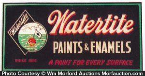 Watertite Paint Sign