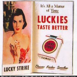 Lucky Strike Taste Better Sign