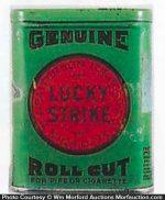 Lucky Strike Tobacco Sample Tin