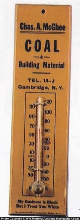 Racist Mcghee Coal Thermometer