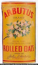 Arbutus Oatmeal Box