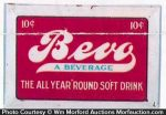Bevo Soft Drink Sign