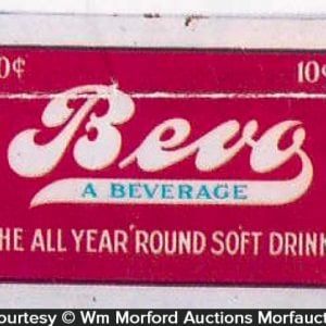 Bevo Soft Drink Sign