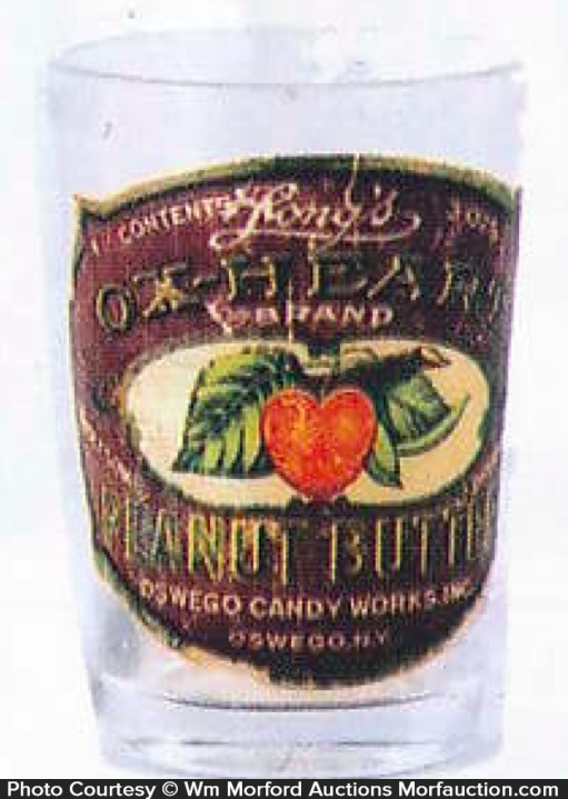 Ox-Heart Peanut Butter Jar