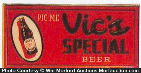 Vic's Special Beer Sign