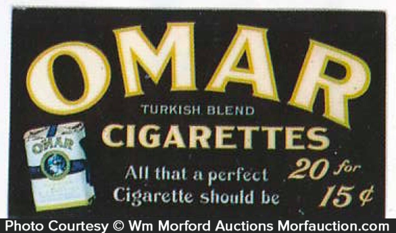 Omar Cigarettes Sign