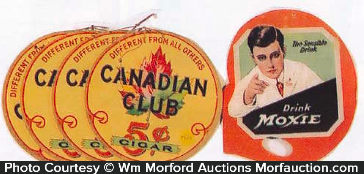 Vintage Cardboard Hanging Signs