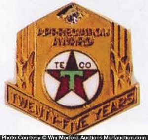 Texaco 25 Year Award Jewelry