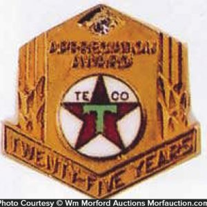 Texaco 25 Year Award Jewelry