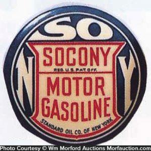 Socony Gasoline Paperweight Mirror