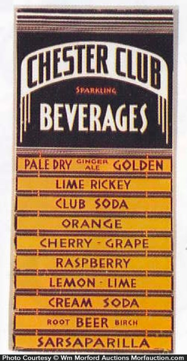 Chester Club Beverages Sign