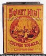 Sweet Mist Chewing Tobacco Tin