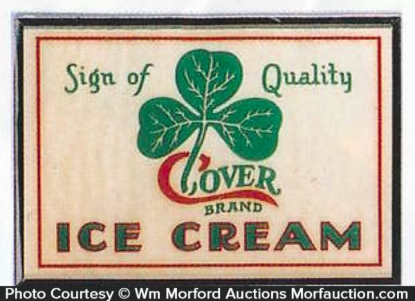Clover Ice Cream Sign