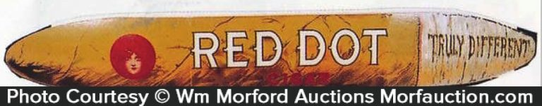 Red Dot Cigar Sign