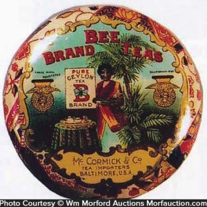 Bee Brand Tea Tin