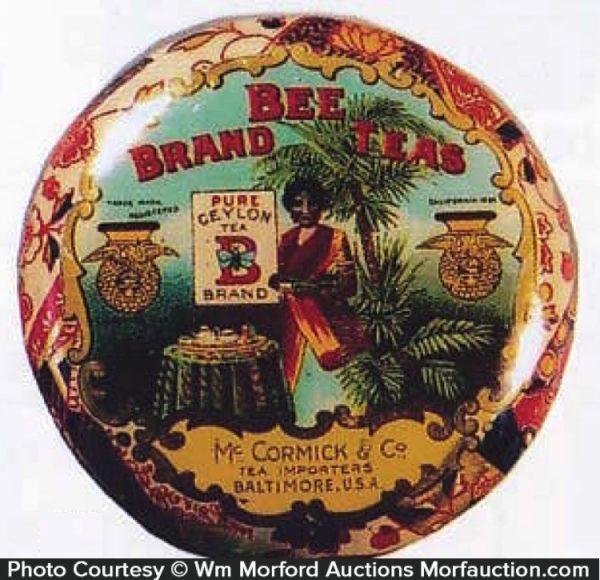 Bee Brand Tea Tin