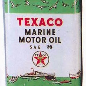 Texaco Marine Motor Oil Can