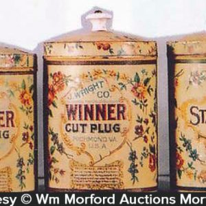 Winner Cut Plug Tobacco Cans